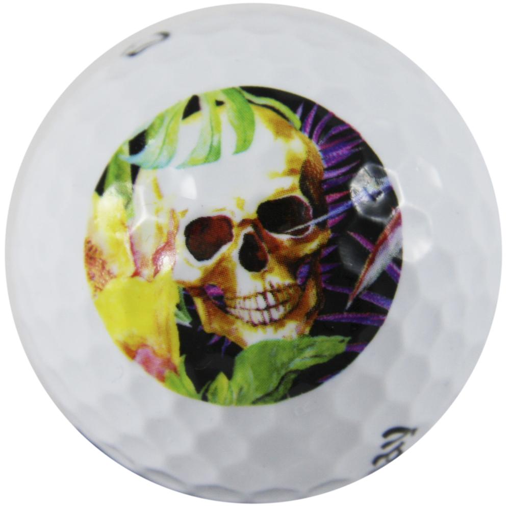 """LM """"Skull Grotto"""" Design Golf Ball 3er Sleeve"""
