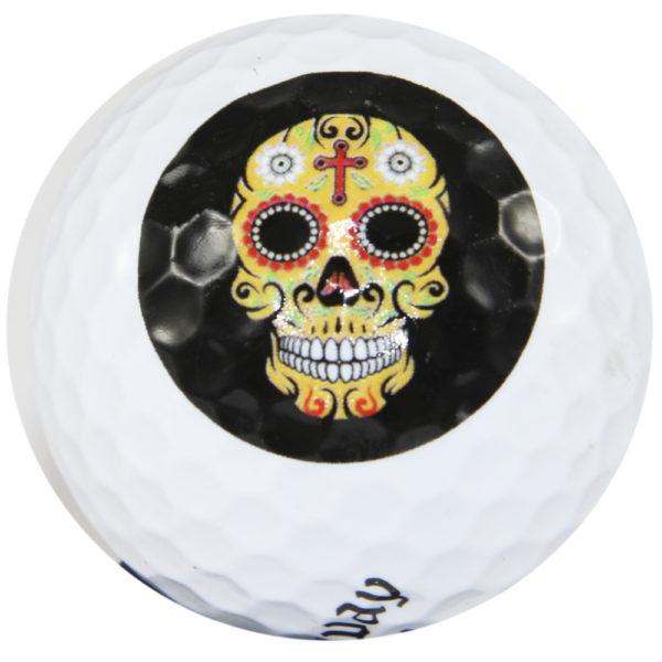 """LM """"Sugar Skull"""" Design Golf Ball 3er Sleeve"""
