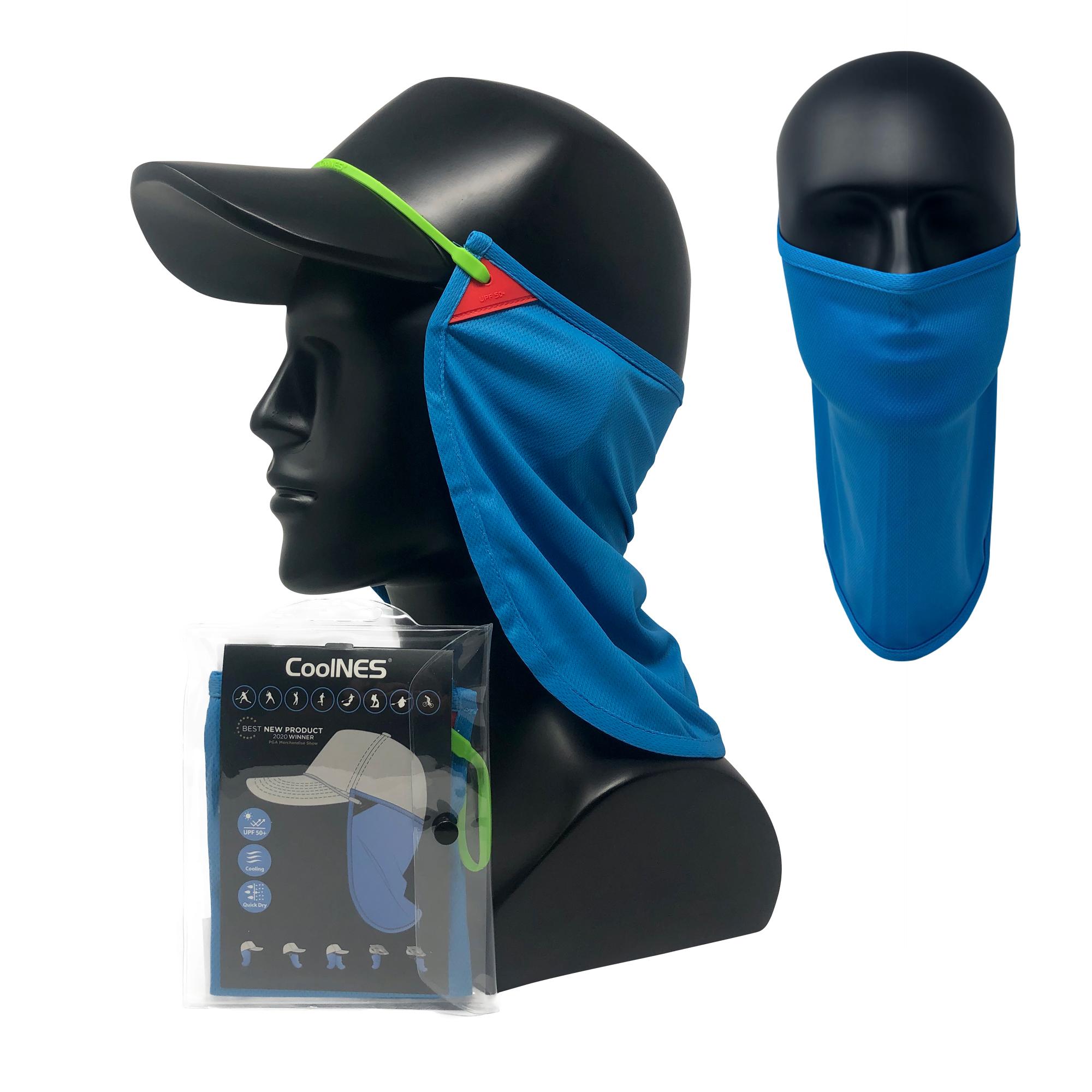 CoolNES® Nacken- und Gesichtsmaske, sky blau