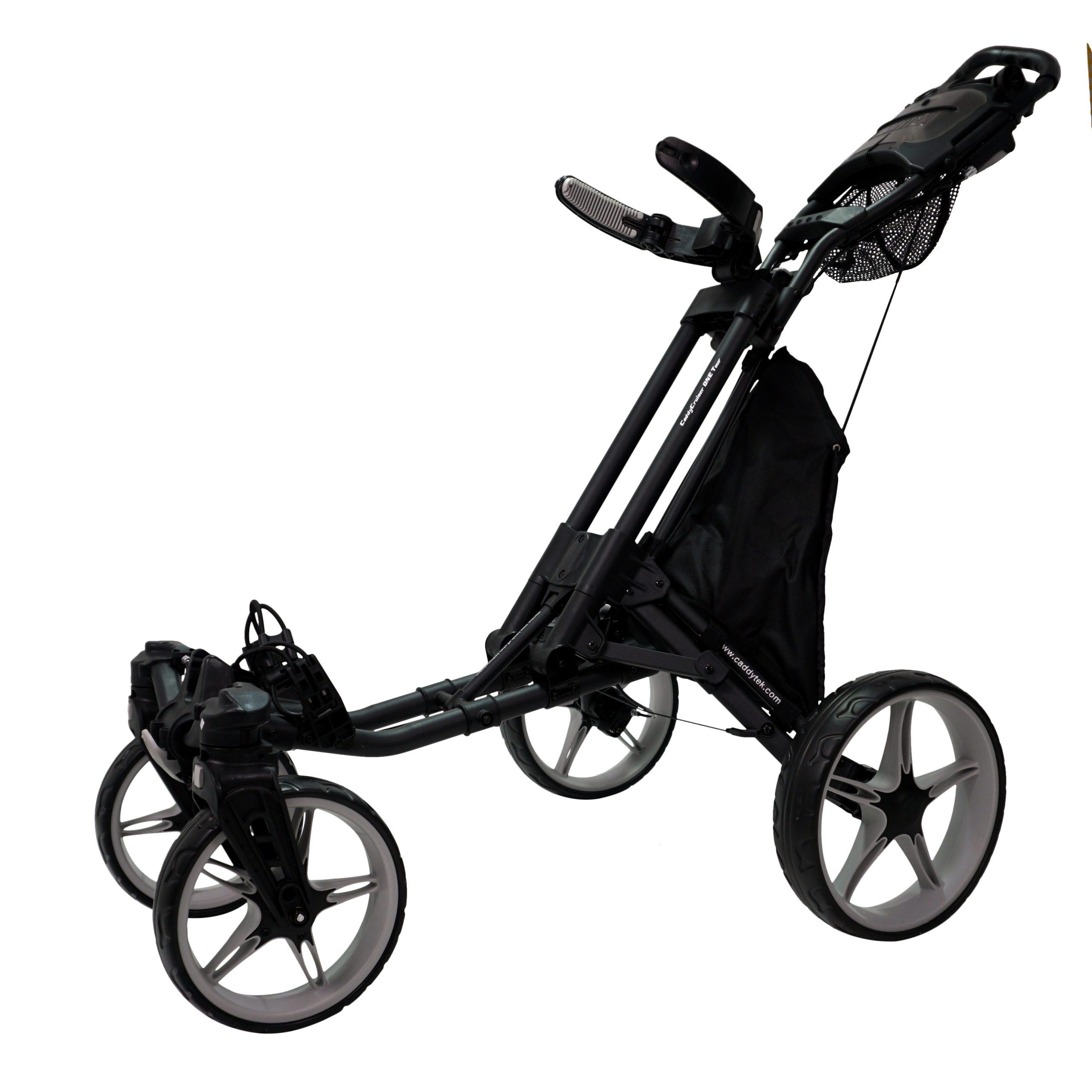 Caddytek Quad Tour 360 Swivel 4-Rad Push Golftrolley