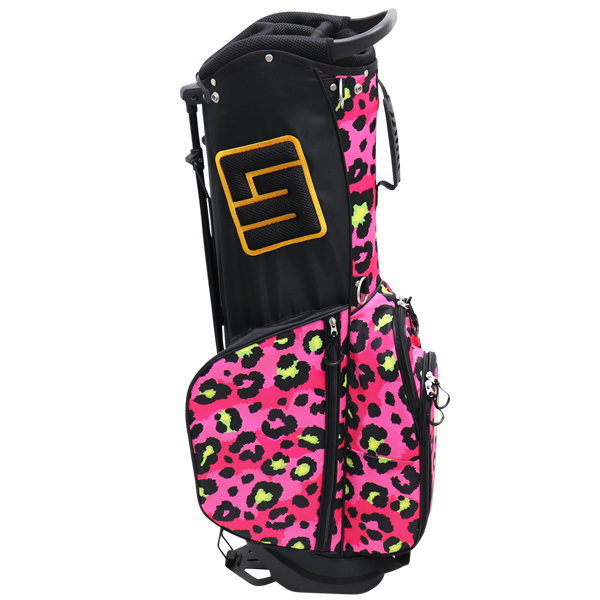 Loudmouth Stand Bag-Neon Cheetah Pink-