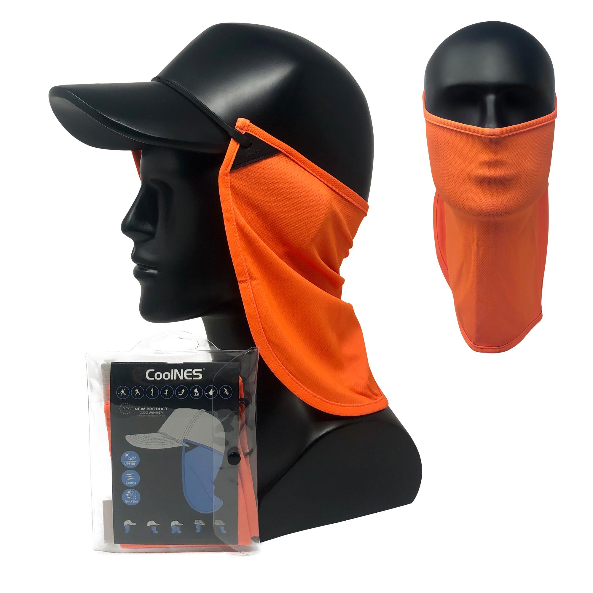 CoolNES® Nacken- und Gesichtsmaske, orange