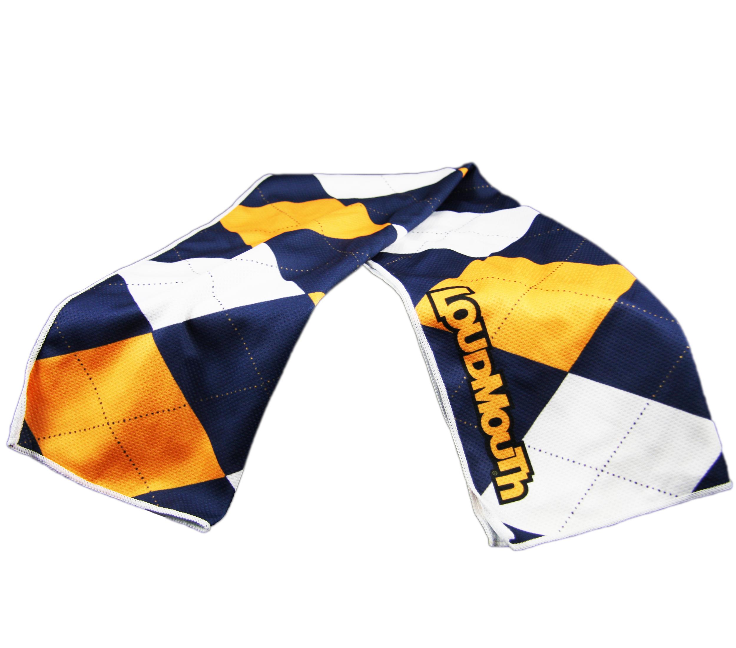 Loudmouth Cooling Towels - Blue & Gold Mega -