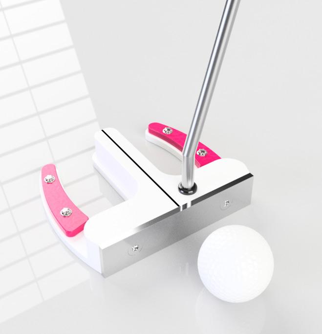 Stehender Putter K2 (weiß-pink)