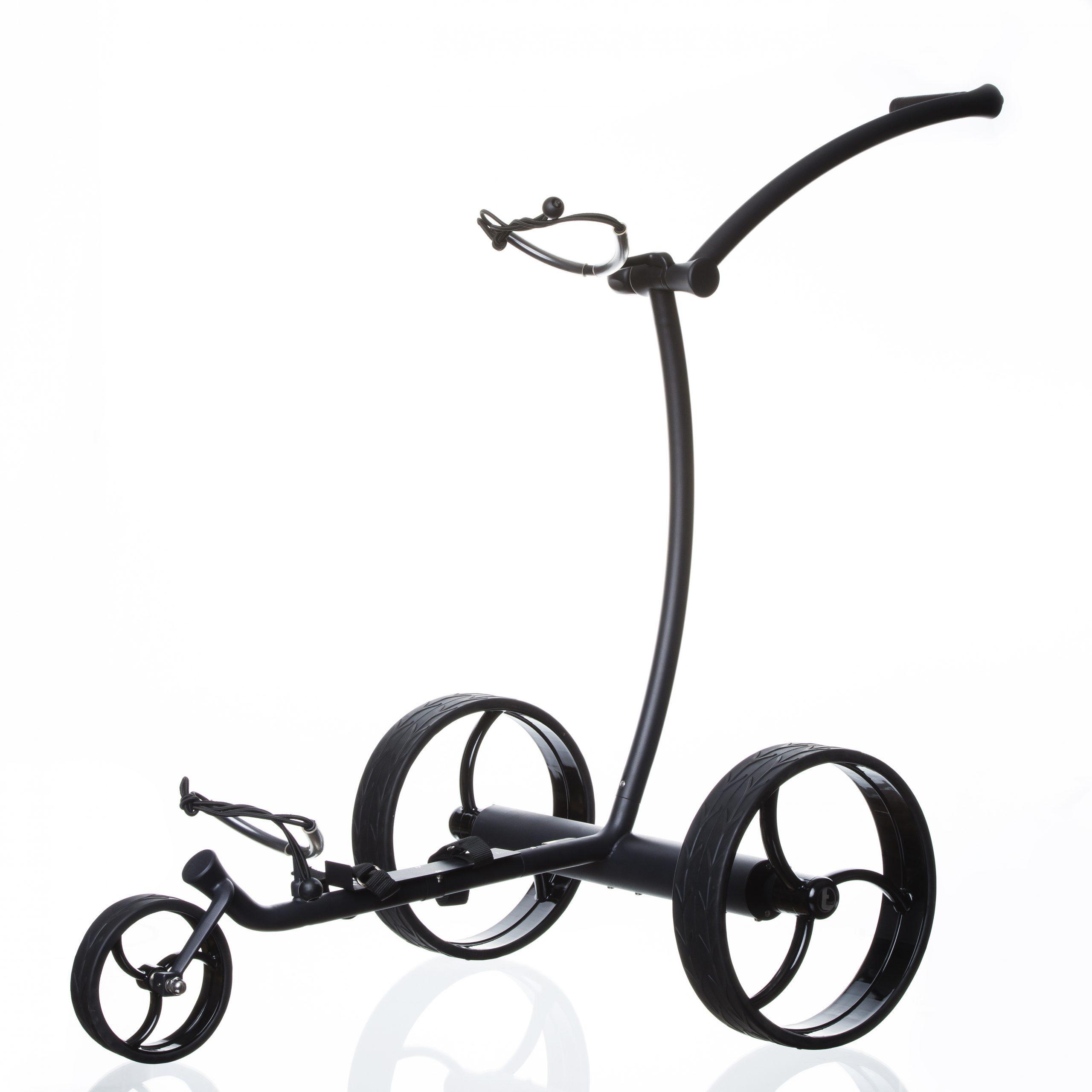 trendGOLF streaker Elektro Golftrolley Edelstahl schwarz