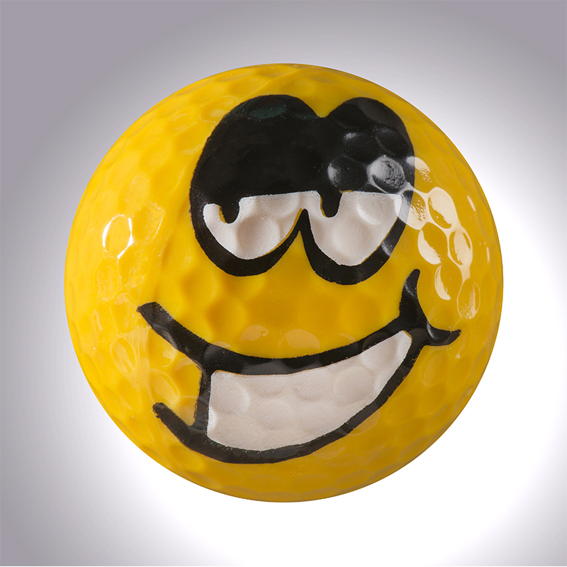 Smiley III – magnetischer Golfball (magball)