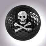 Happy Birthday Totenkopf – magnetischer Golfball (magball)