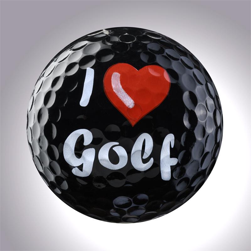 I Love Golf (schwarz) – magnetischer Golfball (magball)