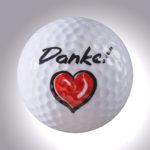 Danke mit Herz – magnetischer Golfball (magball)