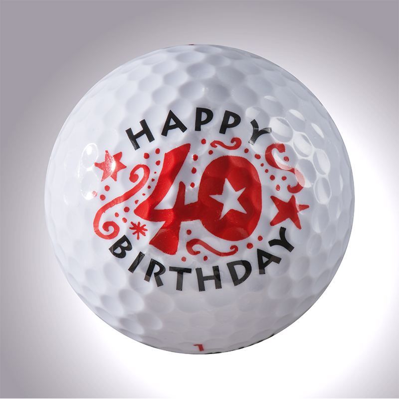 Happy Birthday 40 Jahre – magnetischer Golfball (magball)