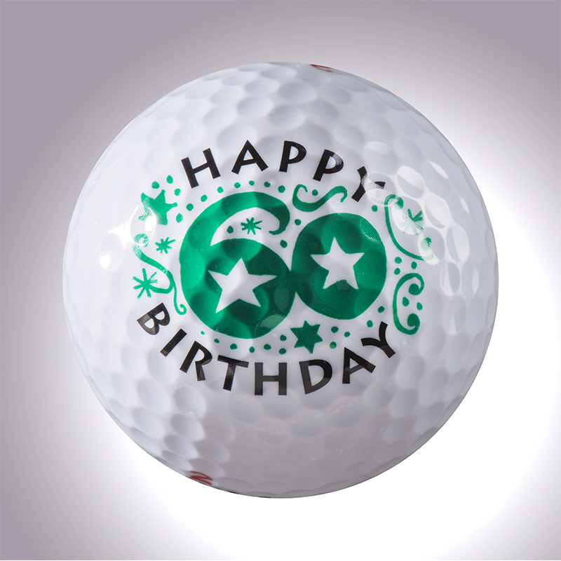 Happy Birthday 60 Jahre – magnetischer Golfball (magball)