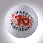 Happy Birthday 70 Jahre – magnetischer Golfball (magball)