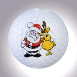 Rudolph mit Kumpel – magnetischer Golfball (magball)