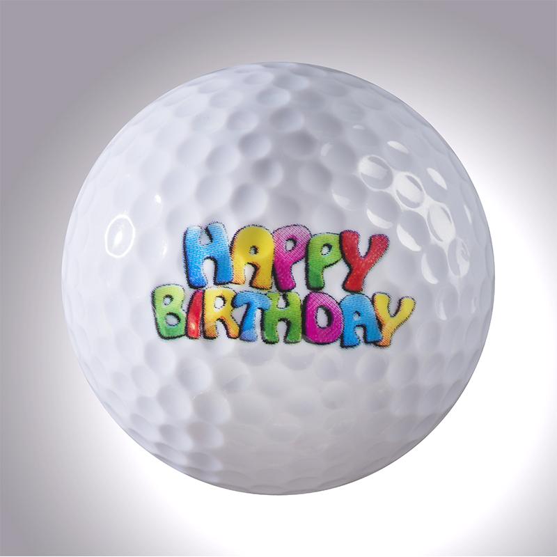 Happy Birthday Schrift – magnetischer Golfball (magball)