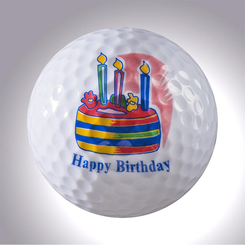 Happy Birthday Torte- magnetischer Golfball (magball)