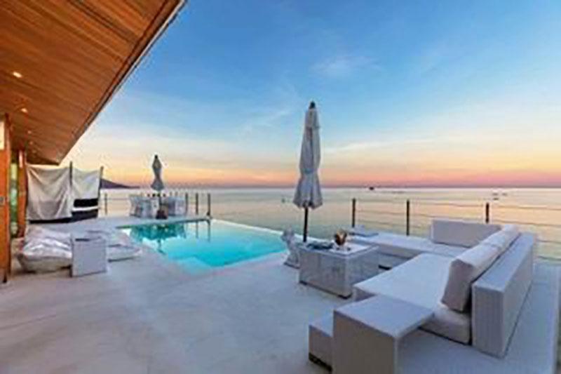 Luxusvilla am Strand von Ko Samui mit wunderschönen Dekos