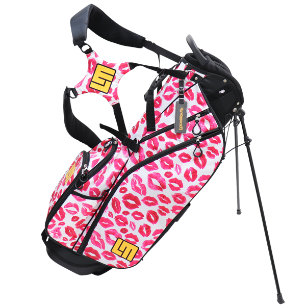 Loudmouth Stand Bag-Kisses White-