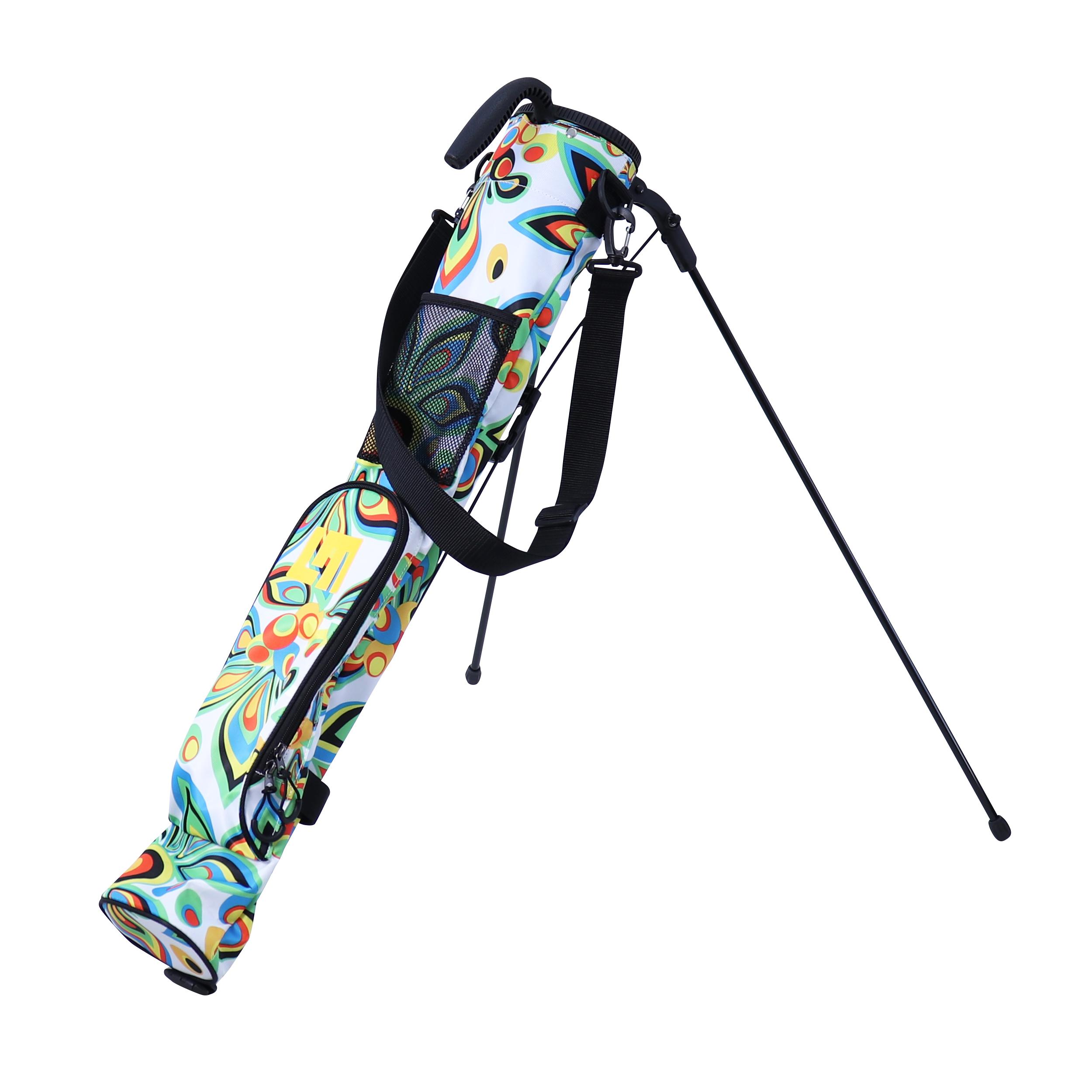 Loudmouth Training/Speed Golf Bag-Shagadelic White-